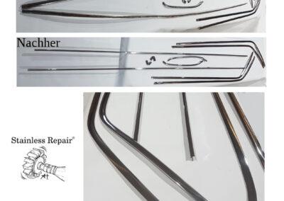 Chevrolet Impala Station Wagon Zierleisten / Trim. Repariert. Ausgerichtet und poliert. Stainless Repair Anna Hirt
