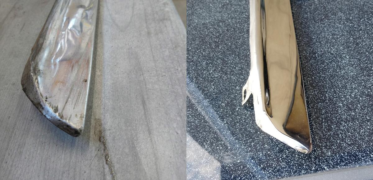 Zierleisten Cadillac Edelstahl Restoration Stainless Repair Anna Hirt